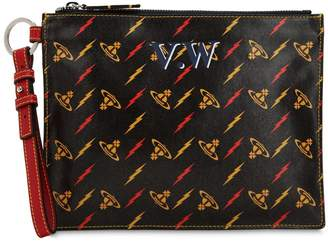 Vivienne Westwood Colette Printed Logo Leather Pouch