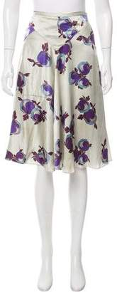 Rochas Distressed Floral Print Skirt