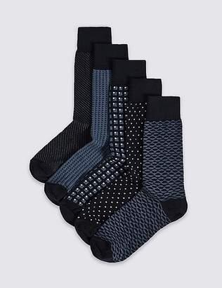 Marks and Spencer 5 Pack Cool & FreshfeetTM Assorted Socks
