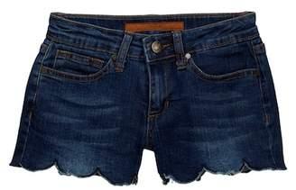 Joe's Jeans Mid Rise Scallop Hem Shorts (Big Girls)