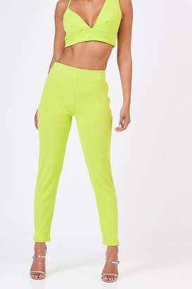 Club L Womens **Cigarette Trousers By Lime