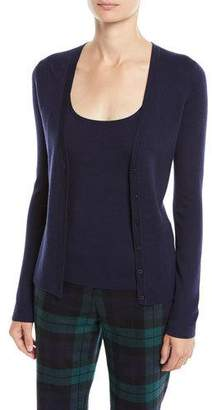 Michael Kors V-Neck Button-Front Cashmere Cardigan