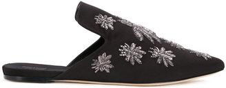 Sanayi 313 spider appliqué slippers