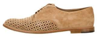 Manolo Blahnik Perforated Suede Oxfords Perforated Suede Oxfords