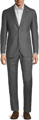Lubiam Plaid Wool Suit