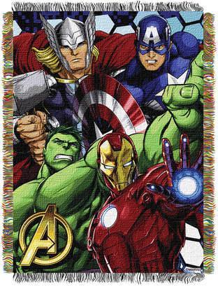 Marvel The Avengers Best Team Triple Woven Tapestry Throw