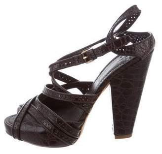 Givenchy Platform Crocodile Sandals