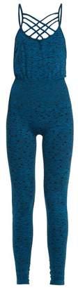 Pepper & Mayne - Criss Cross Star Print Performance Unitard - Womens - Blue