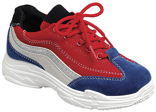 Red & Blue Daddy 3K Running Shoe - Girls