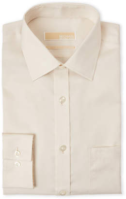 MICHAEL Michael Kors Cream Regular Fit Dress Shirt