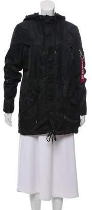 Alpha Industries Zip-Up Hooded Coat