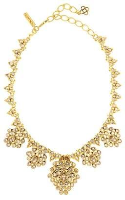 Oscar de la Renta Crystal Teardrop Necklace