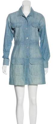 J Brand Denim Mini Shirtdress
