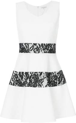 GUILD PRIME lace-panel flared mini dress