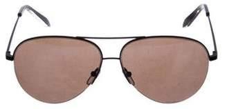 Victoria Beckham Rimless Aviator Sunglasses