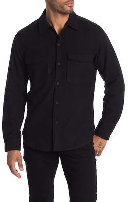 Theory Mory Rossland Wool Button Down Shirt