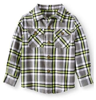 Healthtex Long Sleeve Flannel Button Up Shirt (Toddler Boys)