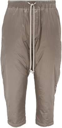Rick Owens Drop crotch padded cropped jogging pants