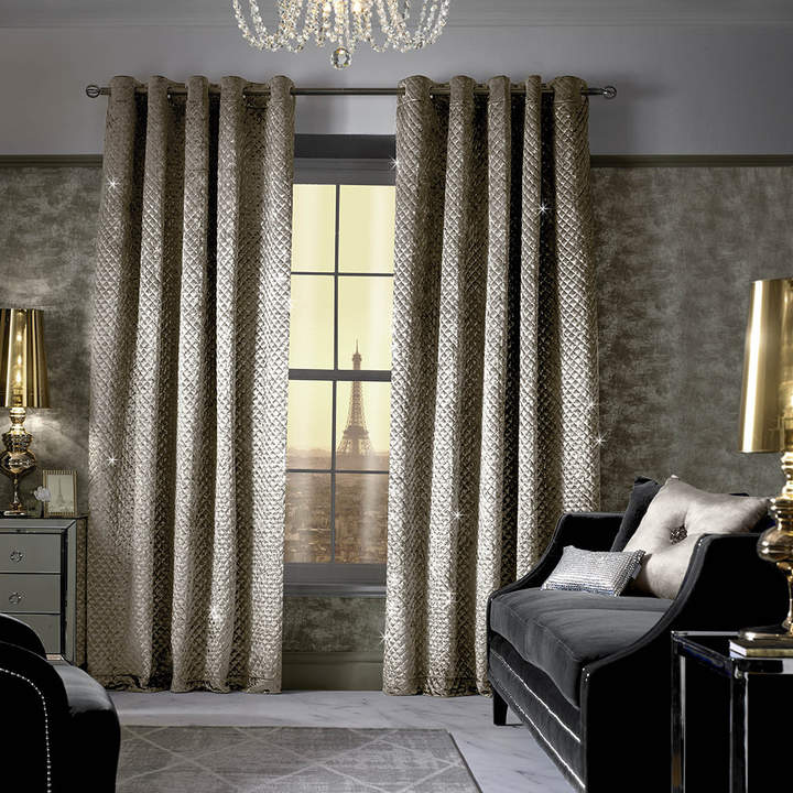 Kylie Minogue at Home – Grazia Lined Eyelet Curtains – Praline – 229x183cm