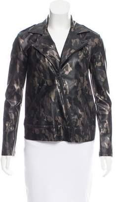 Koral Camouflage Faux Leather Jacket