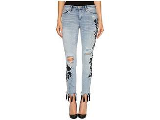 Blank NYC Floral Crop Skinny Classique in Shadow Bloom Women's Casual Pants