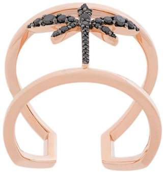 Anapsara mini dragonfly ring