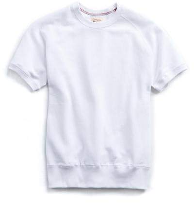 Todd Snyder + Champion Short Sleeve Sweatshirt in White