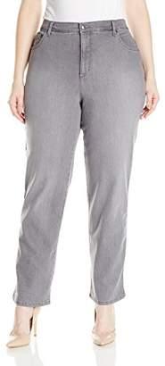 Gloria Vanderbilt Women's Plus Size Amanda-Classic Straight Leg Jean, Glacial Wash