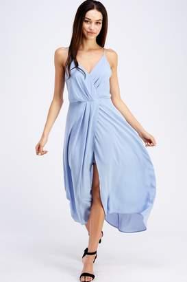 Lush Flowy Blue Dress