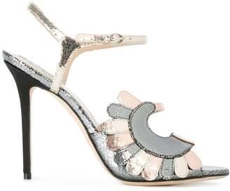 Paula Cademartori metallic stiletto sandals