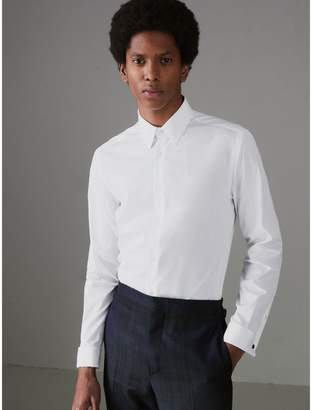 Burberry Slim Fit Double Cuff Cotton Poplin Shirt