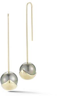 Mizuki Fluid Pearl Bar Drop Earrings