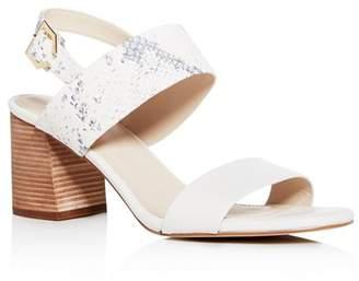 d04cde3f4334 Cole Haan Women s Avani City Embossed Block-Heel Sandals