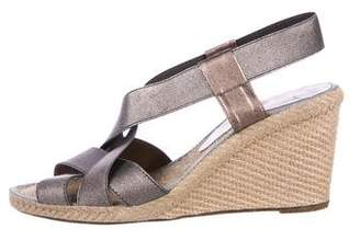 Andre Assous Canvas Slingback Wedges