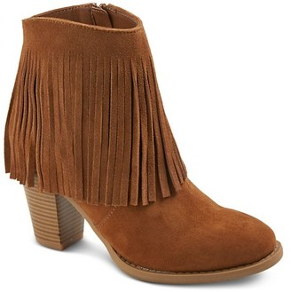 Mossimo Supply Co Women's Fringed Ankle Booties - Moss Supply Co $37.99 thestylecure.com