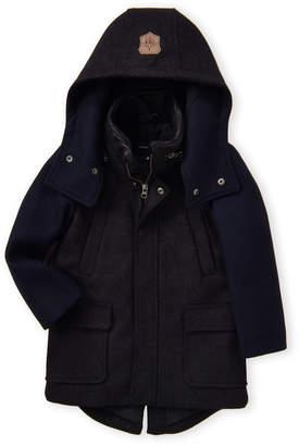 Mackage Mini (Toddler Boys) Niko Two-Tone Hooded Coat