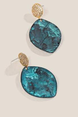 francesca's Amal Teardrop Earrings - Turquoise
