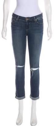 Skyline Ankle Peg Mid-Rise Straight-Leg Jeans