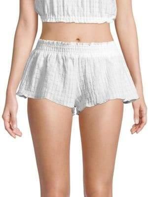 Eberjey Swim Paz Meadow Cotton Shorts