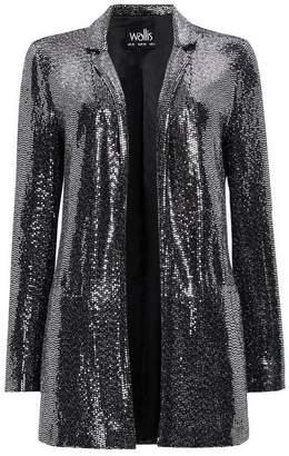 Wallis Silver Embellished Blazer