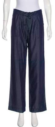 Armani Jeans Chambray Mid-Rise Pants