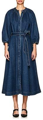 Co Women's Belted Cotton Denim Dress