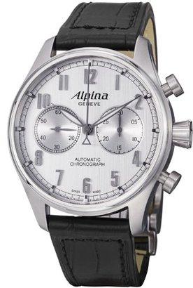 Alpina メンズal860sc4s6アナログディスプレイスイス航空自動ブラック腕時計