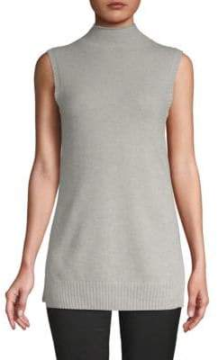 Saks Fifth Avenue Sleeveless Turtleneck Cashmere Sweater
