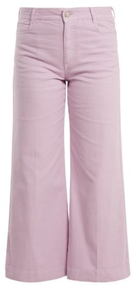 Stella McCartney Wide Leg Cropped Jeans - Womens - Light Purple