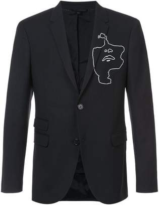 Neil Barrett graphic print blazer