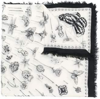 Alexander McQueen multi-print scarf