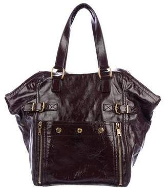 Saint Laurent Patent Leather Downtown Tote