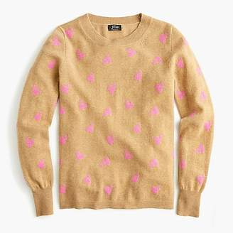 J.Crew Long-sleeve everyday cashmere crewneck sweater in cherries