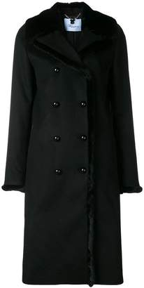 Blumarine double breasted fur coat